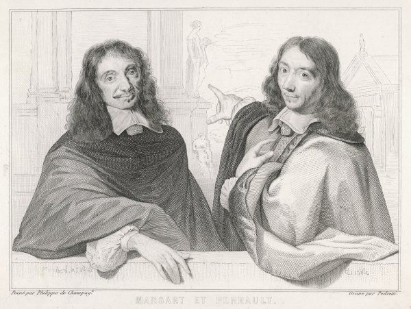 NICOLAS FRANCOIS MANSART French architect with one of the Perrault brothers, possibly the architect Claude Perrault. Mansart was important for establishing classicism in French baroque