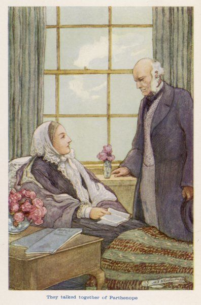 FLORENCE NIGHTINGALE - in later years with her brother-in-law, Lord Verney