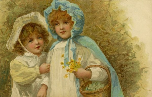 Nister. Girls picking flowers. Harriet Bennett. c.1903.jpg