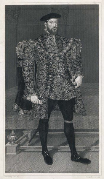 Typical costume for a well off nobleman during the reign of the Tudor monarchs (actually Anthony Browne, 1st Viscount Montague)