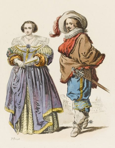 Noble persons of Lorraine during the reign of Louis XIII. (after Jacques Callot)