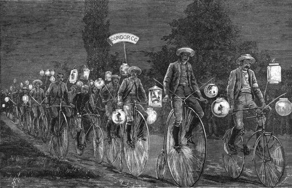 A nocturnal cycle rally at Woodford, Essex. Date: 1889