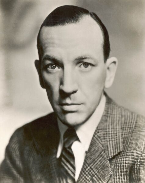 Photographic portrait of Noel Coward (1899-1973), the English playwright, actor and composer, pictured during filming of 'The Scoundrel' in 1935