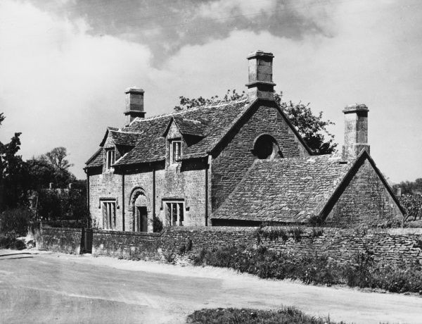 A cottage at Sherbourne, Gloucestershire, England, which was formerly a Norman chapel