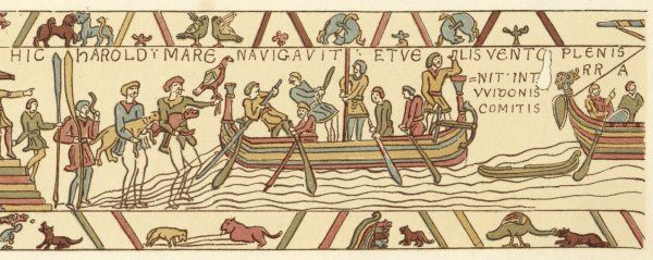 Harold sets sail to confirm to William, duke of Normandy that he will succeed Edward the Confessor on the English throne