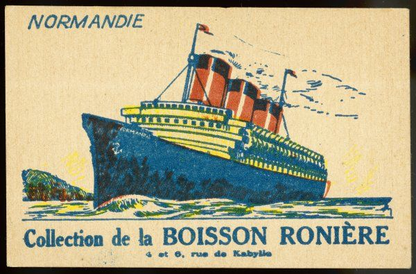 A typical publicity item associating the company with the newest glory of the French merchant fleet