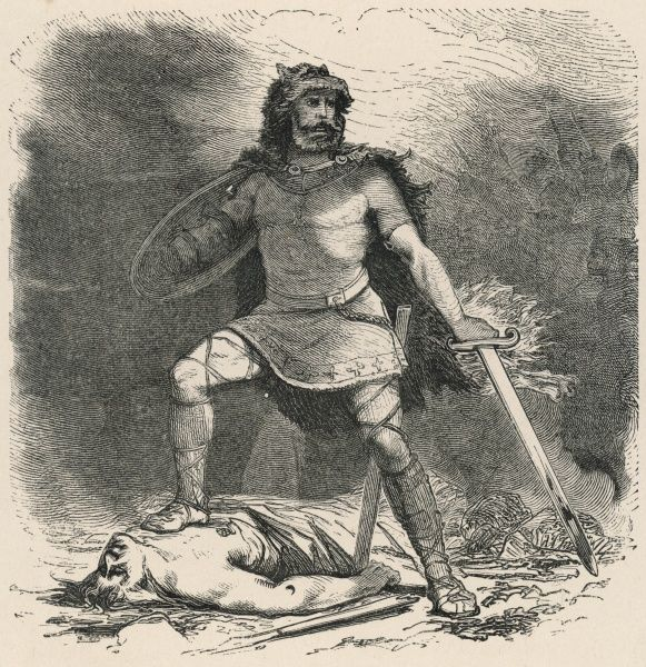 TYR The Germanic war god, Tyr, who sacrificed a hand so that the wolf Fenrir could be bound by the gods