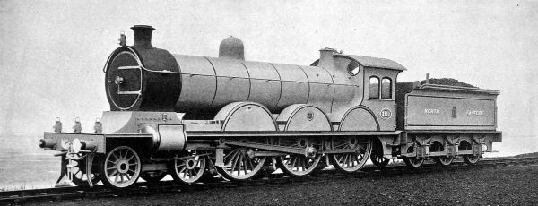 The North Eastern Railway Express passenger engine for the traffic between York and Edinburgh in the early 1900's