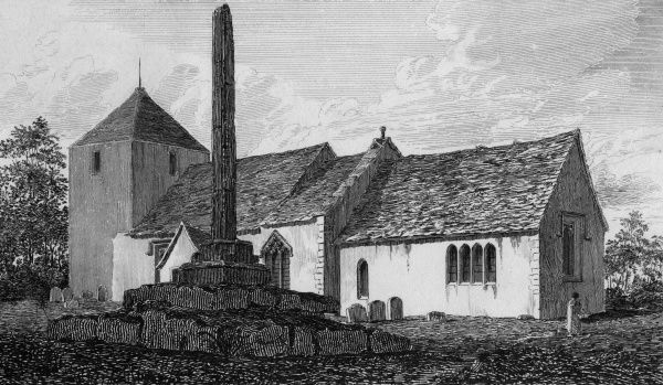The church and cross at North Hinksey, Berkshire Date: late 18th century