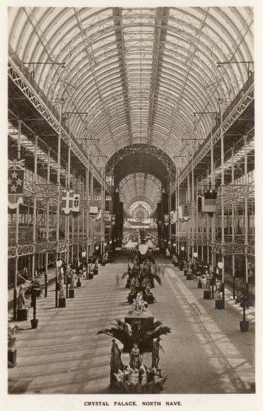 View inside the North Nave at the Festival of Empire Exhibition, held at Crystal Palace, South London. Date: 1911