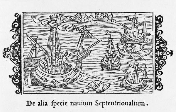 Various types of vessel used by the Northmen