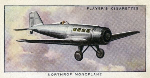 "The Northrop ""Alpha"" Monoplane aeroplane, a single-engined commercial plane carrying six passengers. Date: circa 1936"