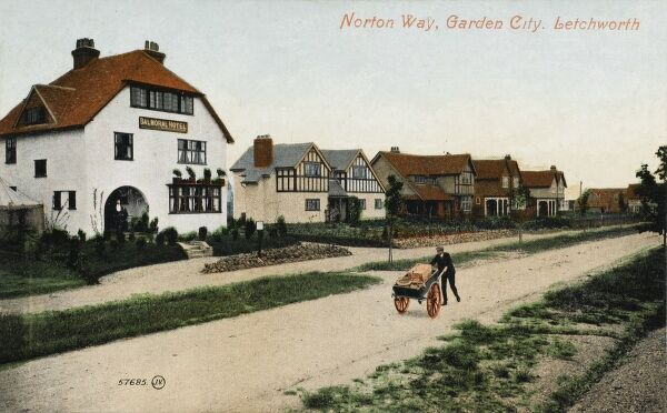 Norton Way - Letchworth Garden City, Hertfordshire - The Balmoral Hotel. The Garden City was founded in 1903 by Ebenezer Howard, was one of the first new towns, and is the world's first Garden City