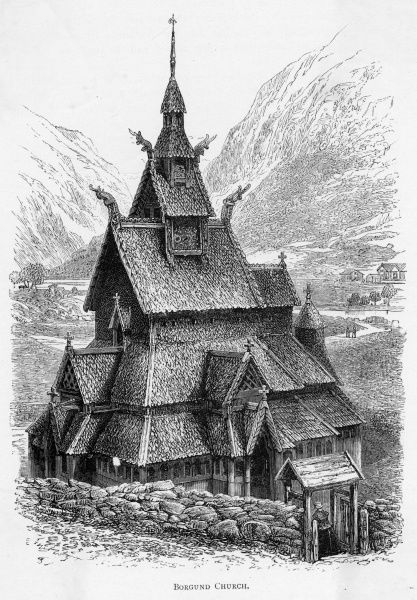 A fine example of a stave church