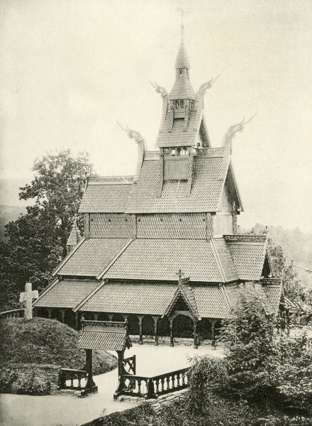 A fine example of a stave church Date: circa 1890