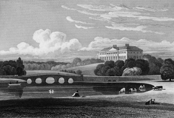 Distant view of Nostell Priory, Yorkshire, the seat of Charles Winn Esquire Date: 1829
