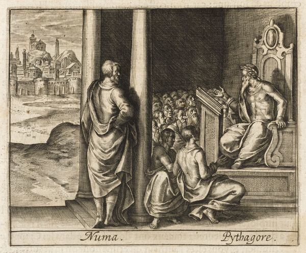 PYTHAGORAS He is visited by Numa, second king of Rome, who hopes to learn the screts of nature