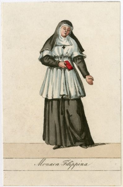MONACA FILIPPINA Nun of the order of Saint Philip