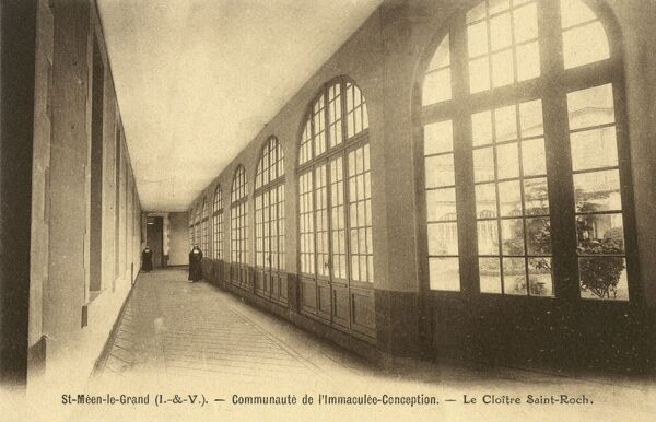 One of the least interesting postcards in our collection, this is the convent of the Communaute de l'Immaculee- Conception at Saint-Meen (L&V). Date: circa 1900