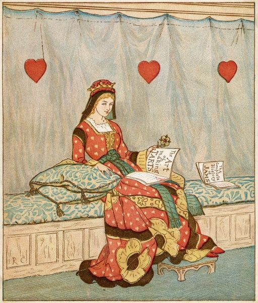 'The Queen of Hearts she made some tarts'... She swots up on some pre-cookery reading...'The Art of Making Tarts' and the 'History of Jams&#39