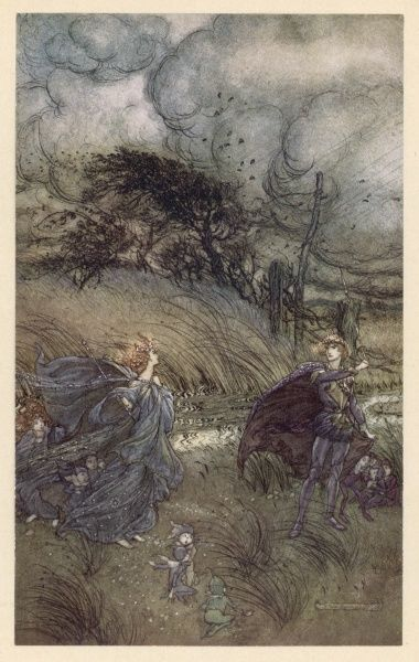 Act II, Scene I The quarrel between Oberon and Titania, King & Queen of the fairies Date: 1908