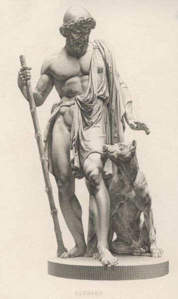 Odysseus is recognised by his dog, Argos
