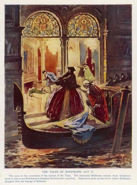 The gondola as getaway vehicle - a dramatic scene from Offenbach's 'Tales of Hoffmann&#39