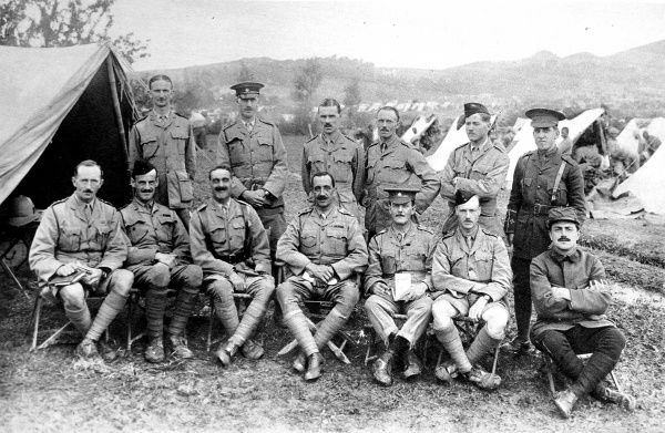 Officers of the 1st Battalion 39th Garhwal Rifles