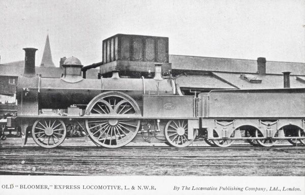 Old 'Bloomer' express locomotive L&NWR Date