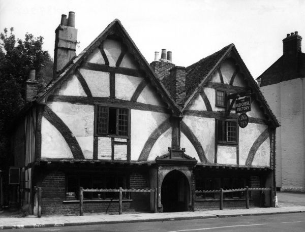 The Old Chesil Rectory, the oldest house in Winchester, Hampshire, England. Date: mid 15th century