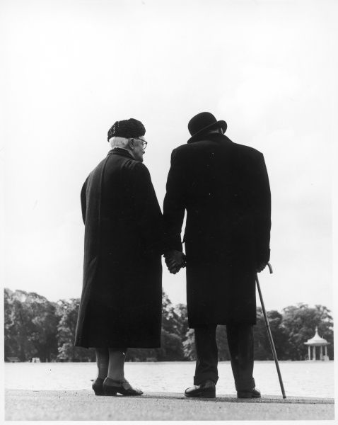 An old couple in the park