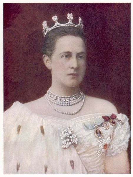 QUEEN OLGA OF GREECE Wife of George I of Greece (they married in 1867), niece of the Tsar of Russia