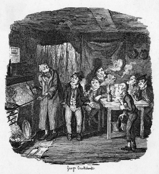 The Artful Dodger introduces Oliver to Fagin. Date: First published: 1836-37