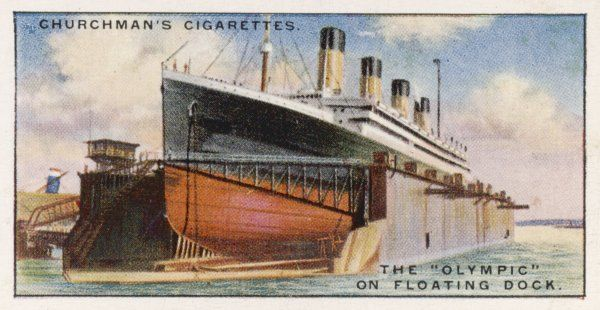 The White Star liner in floating dock
