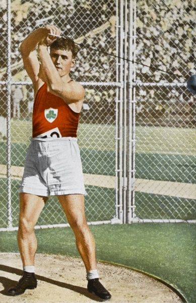 Hammer: O'Callaghan (Eire) wins with a throw of 53.92 metres