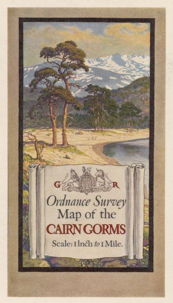 The attractive cover design for the Ordnance Survey's One- inch-to-the-mile series