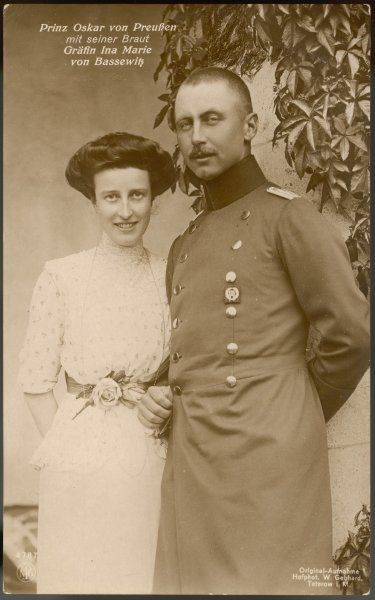 PRINCE OSKAR OF PRUSSIA Son of Wilhelm II with his wife, Ina Maria, Duchess of Bassewitz