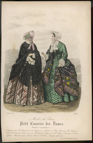 Two ladies in very splendid outdoor outfits