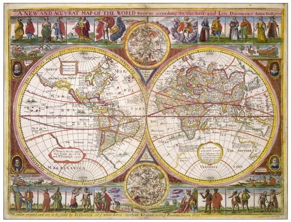 A new and accurate map of the world drawn according to the best and late discoveries of 1670