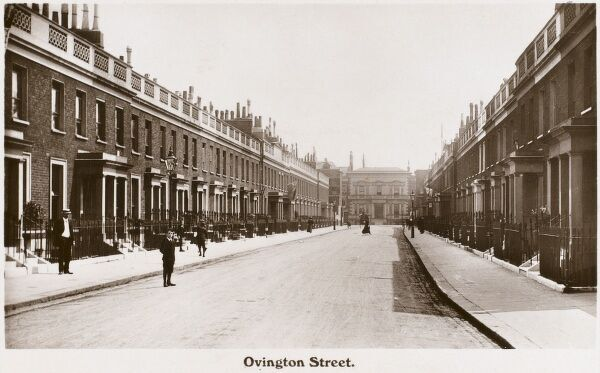 Ovington Street, London, SW3. This view has changed very little today, apart from the parking situation!