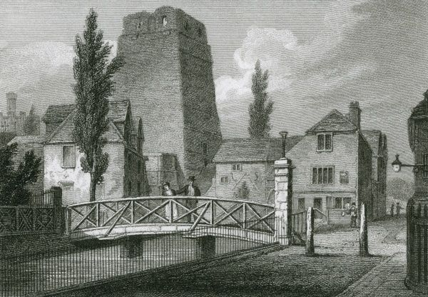 All that's left of Oxford Castle, Oxfordshire Date: 1821