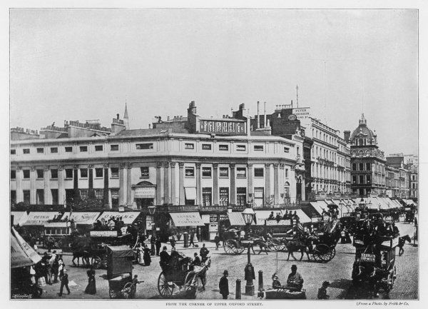 View of Oxford Circus from Upper Regent Street, Central London
