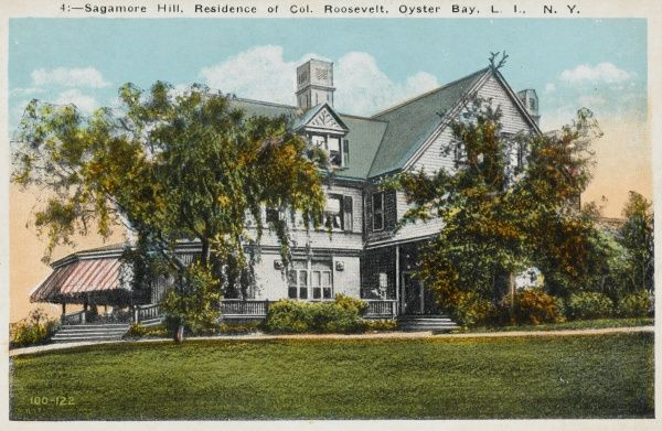Sagamore Hill, residence of Colonel Roosevelt, Oyster Bay, Long Island, New York