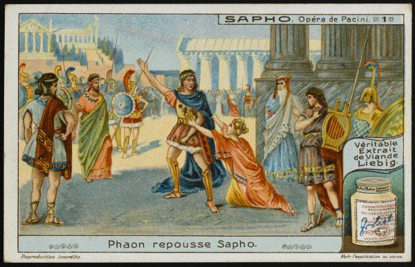 Faone repulses Saffo, believing that she has betrayed him, and decides to marry Climene instead