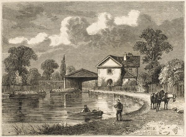 The canal at Paddington in the early 19th century