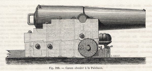 The shell-firing cannon of H J PAIXHANS