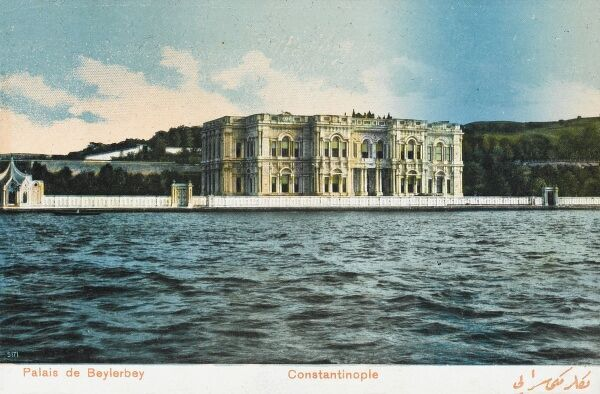 Palace of Beylerbey, Constantinople, Turkey on the Asian side of the Bosphorus. The Palace built in similar style to the Dolmabahce Palace completed in 1865 by Sarkis Baylan. Built as a residence for visiting heads of state. Date: circa 1910s