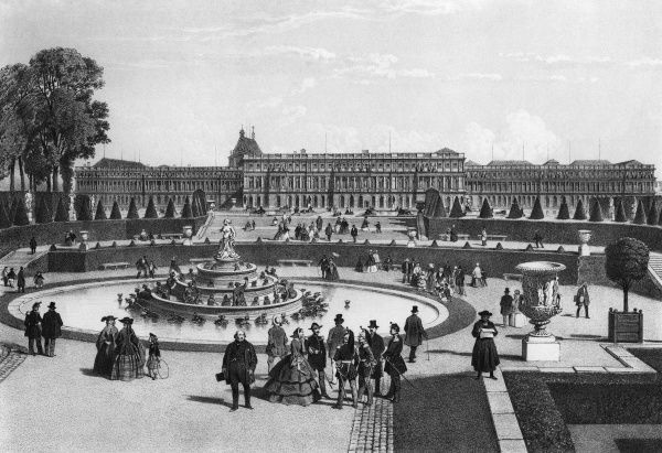 The Palace of Versailles, France Date: 1861
