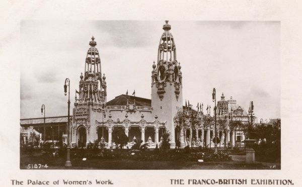 View of the Palace of Women's Work at the Franco-British Exhibition, held at White City, West London. Date: 1908