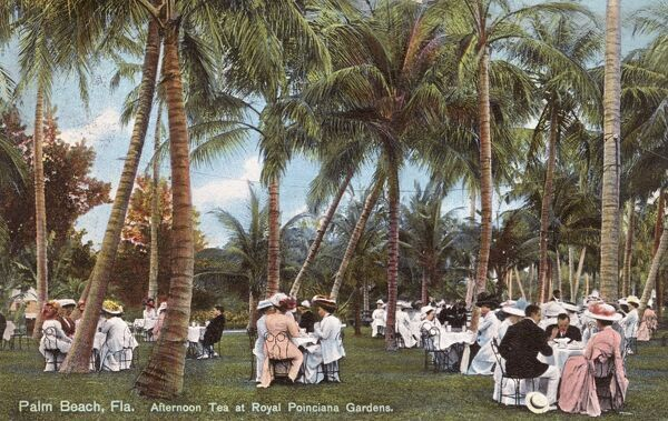 Palm Beach, Florida - Afternoon Tea at the Royal Poinciana Gardens Date: 1910